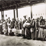 Immigrants in Line at Ellis Island, circa 1900